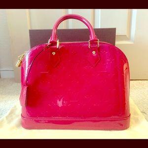 Louis Vuitton Alma Pink Vernis
